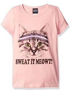 Fifth Sun Girls' Little Girls' Cat Graphic T-Shirt