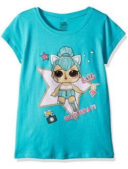 L.O.L. Surprise! Girls' Little Glitterati Kitty Queen Short Sleeve T-Shirt