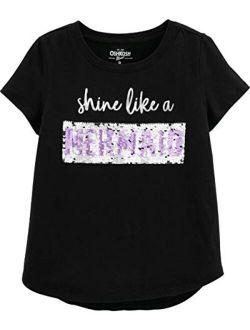 Kids' Little Girls' Sequin Short-sleeve T-shirt