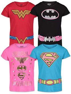DC Comics Wonder Woman Girls 4 Pack T-Shirts