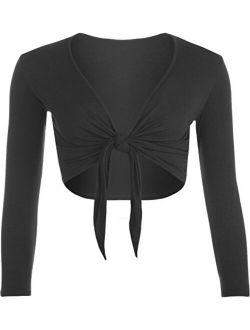 Women's Shrug Tie Up Long Sleeve Ladies Top