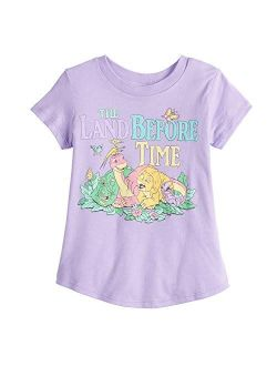 Jumping Beans Little Girls' Toddler 2T-5T Dino Friends Land Before Time Tee