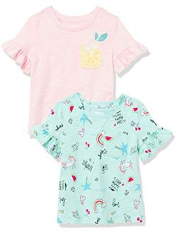 - Spotted Zebra Girls Short-sleeve Ruffle T-shirts