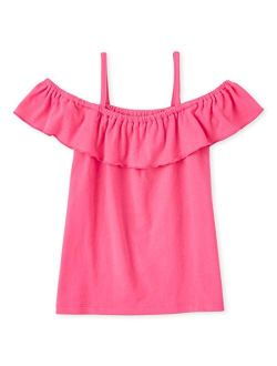 Girls' Mix And Match Ruffle Off Shoulder Top
