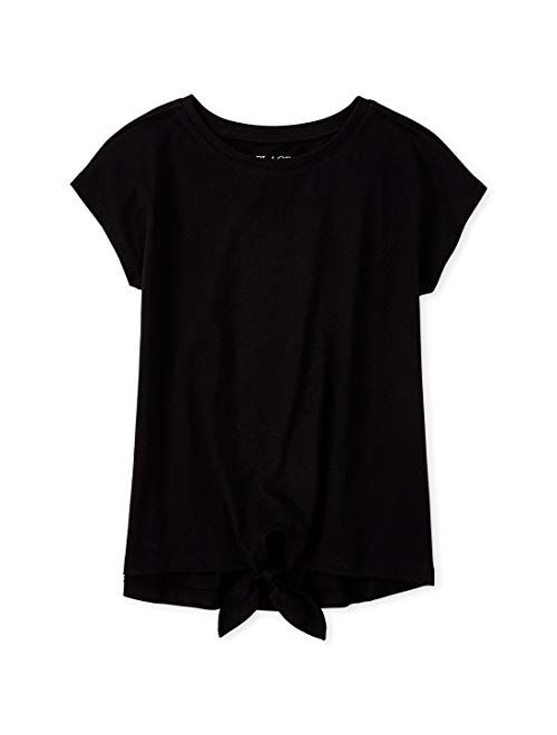 The Children's Place Girls' Tie Front Top