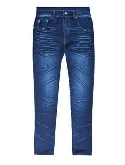 Just Love Jeggings for Girls Comfortable Seamless Printed Leggings