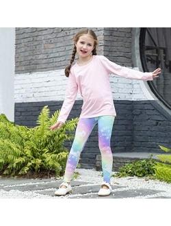 Kid Girls Unicorn Rainbow Mermaid Leggings Soft Stretchy Pants High Waist Slim Tights