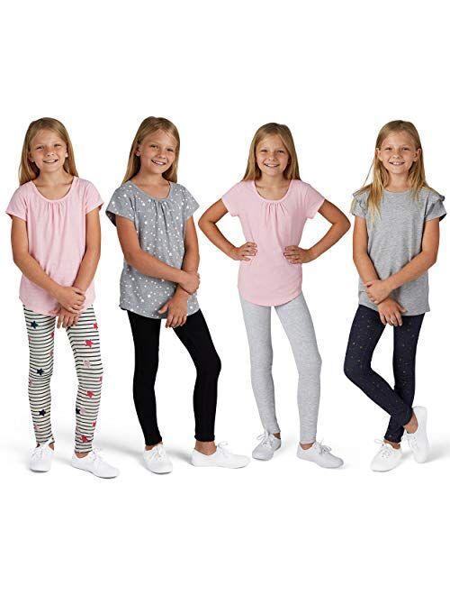 Vigoss Girls 2 Pack Soft Cotton Leggings