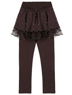 Arshiner Girls Tutu Skirt Leggings Pants in Cotton Toddler Legging Dress