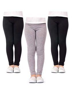 DEAR SPARKLE Girls' Leggings 3 Pack Girl Stretch Kids Toddler Pants (G1)
