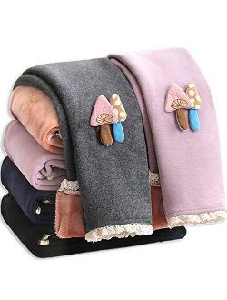 Govc Girls Winter Thick Warm Fleece Lined Leggings Kids Velvet Tights Pants
