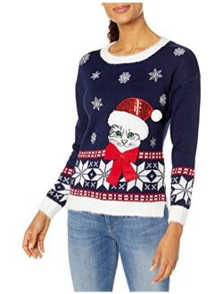 Women's Ugly Christmas Cat Sweater