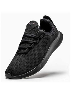 Yugumak Men's Walking Shoes Gym Lightweight Casual Sports Shoes Breathable Athletic Tennis Workout Running Sneakers
