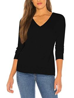 Sovoyontee Women's Soft Warm Basic Thin Shirt Sweaters for Work