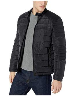 Marc New York by Andrew Marc mens Quinn Four Pocket Hooded Jacket