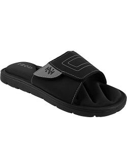 Men's Memory Foam Sandal, Velcro Adjustable Sport Slide, Size 7 To 12