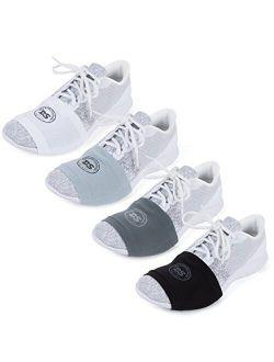 THE DANCESOCKS - 100% USA Made Over Sneaker Dance Socks, Smooth Floors (4 Pair Packs)