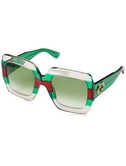 Gg 0178 S- 001 Multicolor/green Sunglasses