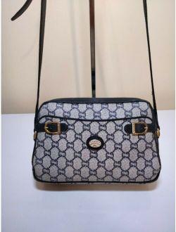 Ge Navy Blue Gucci Plus Gg Monogram Shoulder Crossbody Handbag