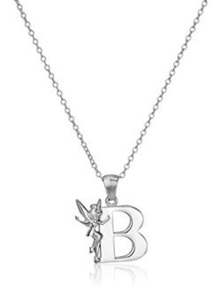 """""""tinkerbell"""" Initial Silver Pendant Necklace"""