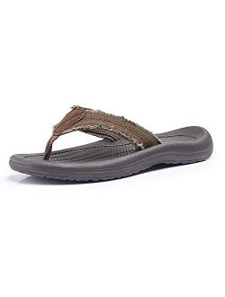 KRABOR Mens Flip Flops, Comfort Arch Support Sport Thong Sandals for Outdoor Size 7-14