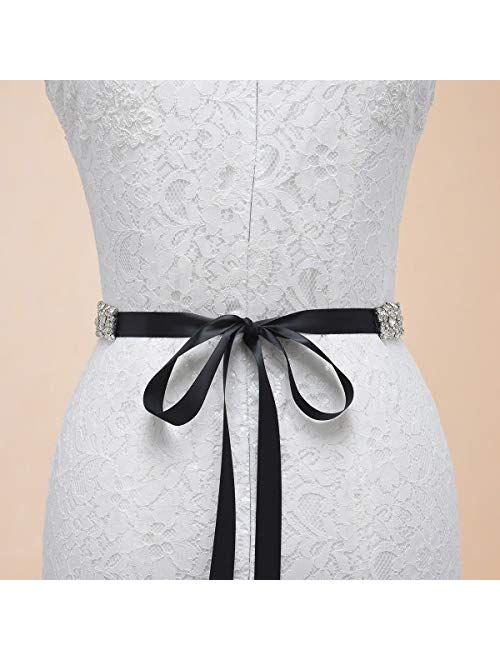Rhinestone Bridal Belt Bridesmaid Sash Crystal Wedding Belt Women Dress Accessories