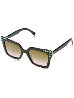 Ff0260/s 3h2 Black/pink Ff0260/s Square Sunglasses Lens Category 2 Lens
