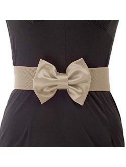 Women's Wide Cinch Belt Vintage Big Bow Knot Corset Waistband