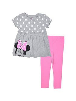 Minnie Mouse Toddler Girls Short Sleeve Tunic Shirt & Legging Set