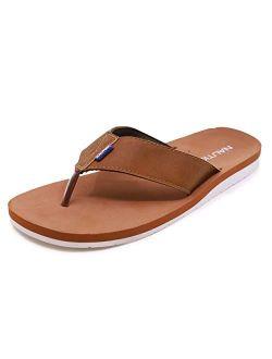 Men's Tayrona Flip Flop, Rustic Style Fabric Lined, Beach Sandal