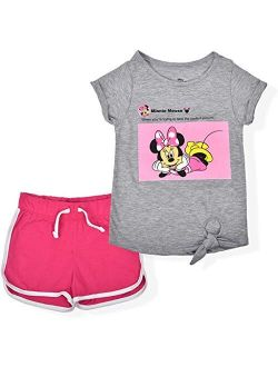 Minnie Mouse Girl's 2-piece Perfect Picture Shorts And Graphic Tee Shirt Set