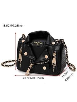 Sfly Women Chain Motorcycle Shoulder Rivet Jacket Bags Messenger Bag Leather Handbags for Girls