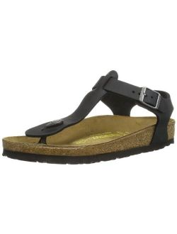 Womens Kairo Black Oiled Leather Sandals