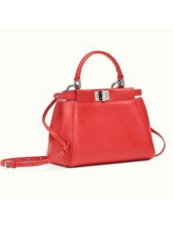 Ntic Fendi Peekaboo Monster Eyes Mini Red Leather Hand Crossbody Bag
