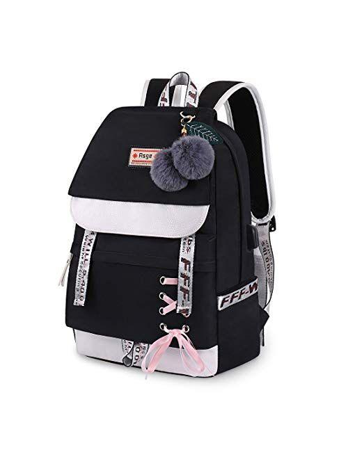 Asge Backpack for Girls Kids Schoolbag Children Bookbag Women Casual Daypack