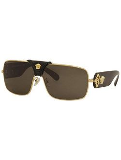 Ve2207q Gold/medusa/black Leather/brown One Size
