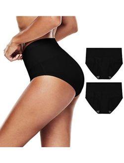 TUTUESTHER Womens Underwear High Waistd Panties Postpartum Cotton Full Briefs Multipack