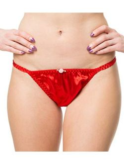 Satini Women's Tanga Bikini Briefs Satin Panties