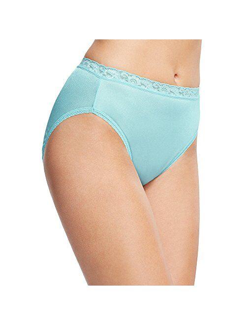 Hanes Womens Cotton Hi Cut Panty Multipack