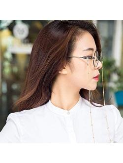 LANG XUAN Eyeglass Chains Glasses Reading Eyeglasses Holder Strap Cords Lanyards - Eyewear Retainer for Women