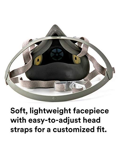 3M Half Facepiece Reusable Respirator 6300, Gases, Vapors, Dust, Paint, Cleaning, Grinding, Sawing, Sanding, Welding, Large