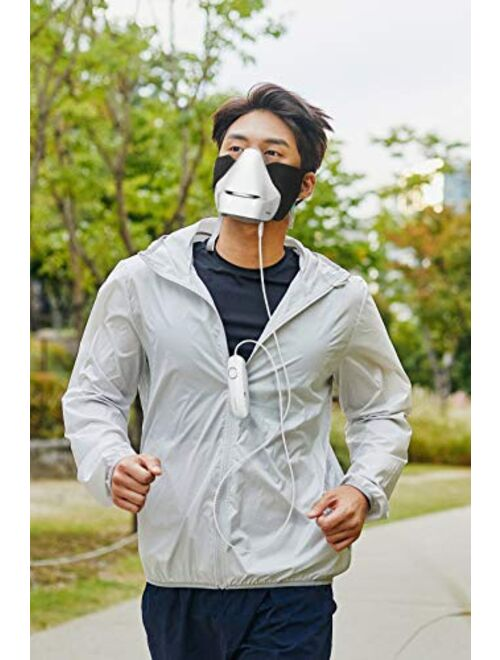 AirproM Wearable air Purifier mask, H13 Grade HEPA Filter, Multi-use, air mask, Comfortable mask, Summer mask, Made in Korea