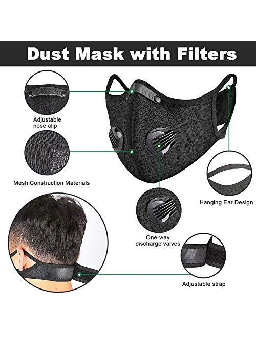 HONYAO Reusable Dust Face Mouth Sport Mouth, Adjustable Protective Mouth