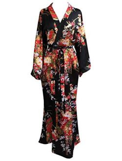 JANA JIRA Women's Long Ankle Length Robe for Women Plus Size Nightgowns