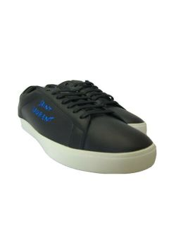 J-4331178 New Saint Laurent Black Leather Low-top Sneakers Shoes Size 41 US 8