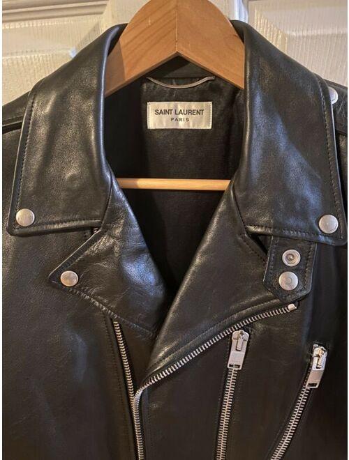 Yves Saint Laurent Hedi Slimane x Saint Laurent Paris L17 Calfskin Biker Jacket