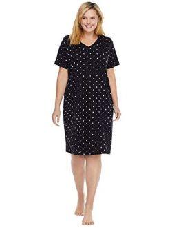 Dreams & Co. Women's Plus Size Print Sleepshirt Nightgown