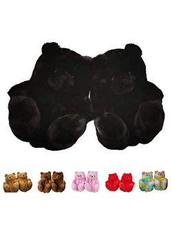 Regg Teddy Bear Slippers, Home Indoor Soft Anti-Slip Faux Fur Cute Slippers