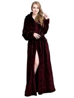 Find Dress Extra Long Plush Fleece Robe Thicken Soft Warm Bathrobe