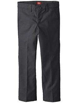 Girls' Slim Stretch Flat Front Pant